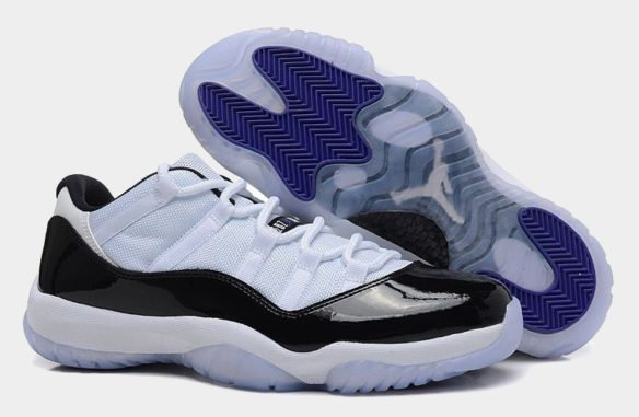 Фото Air Jordan 11 Retro Concord Low черно-белые - 3