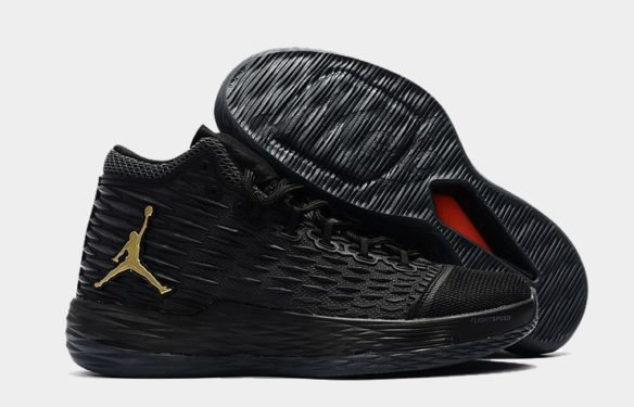 Фото Air Jordan Melo M13 (Black Metallic-Gold) - 3